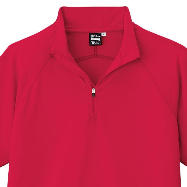 ANDARE SCHIETTI アンドレスケッティ A2667 半袖ジップアップポロシャツ メンズ