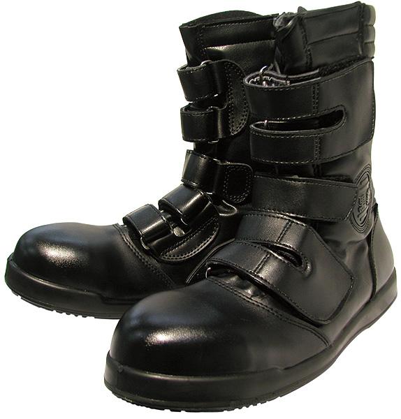 コーコス信岡  ワークギア ZA08黒豹高所用半長靴マジック安全靴 セーフティーシューズ
