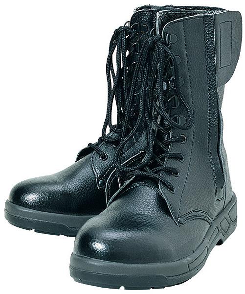 コーコス信岡  ワークギア ZA815長編みファスナー付安全靴 セーフティーシューズ