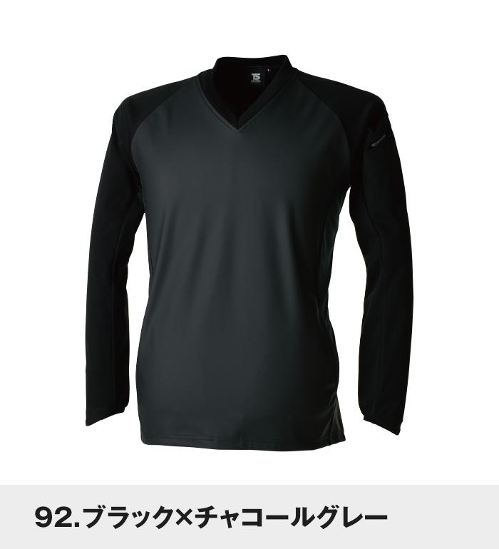 TS DESIGN ティーエスデザイン 4525 ストレッチウインドブレーカーシャツ 秋冬用 メンズ作業服 作業着