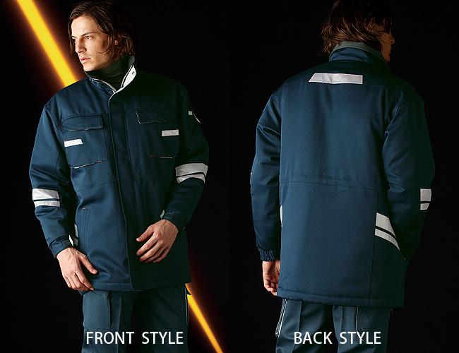 タカヤ商事 TUN009 夜間作業も安心!3M社製の最高レベル反射材付き防寒コート 作業服 作業着