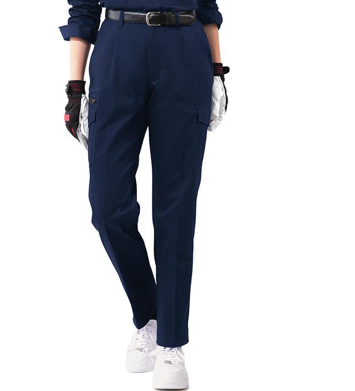 2026 レディースワンタックカーゴパンツ 秋冬用  XEBEC ジーベック 作業服 作業着 ズボン