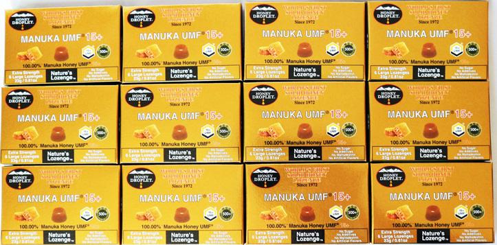 マヌカハニー ハニードロップレット(UMFマヌカハニー15+)1箱6粒入り 12箱セット(合計72粒)【1箱あたり税込1483円】【即出荷/送料込み価格】