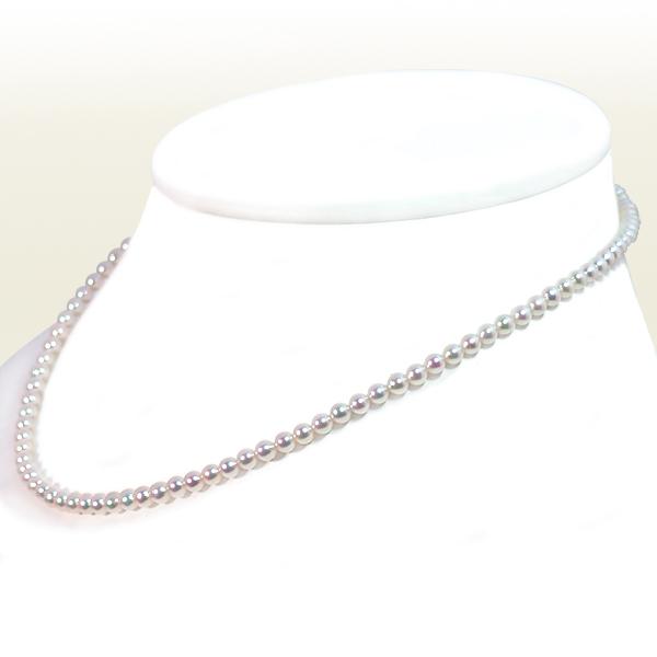 あこや真珠 ベビーパールネックレス<3.5〜4mm>アジャスター・K18YG N-12177