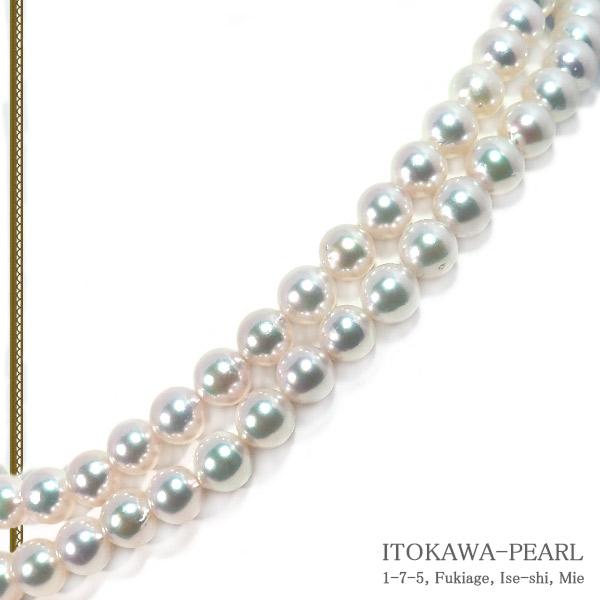 ロングネックレス(83cm)あこや真珠ネックレス<8〜8.5mm>N-12169