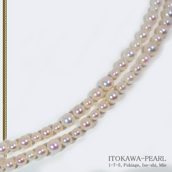 ベビーパールロングネックレス (88.5cm)あこや真珠ネックレスパールネックレス<4〜6.9mm>アコヤ真珠 N-10490
