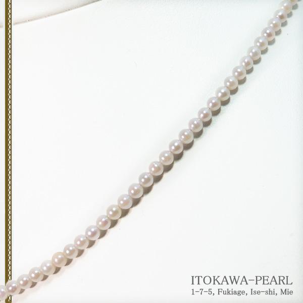 あこや真珠ベビーパールネックレス<3〜3.5mm>アジャスター・K14WG N-12190