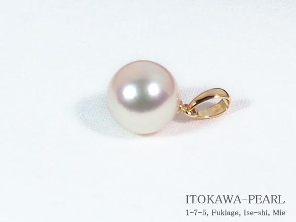 あこや真珠ペンダントトップ<8.9mm>K18YG P-8292