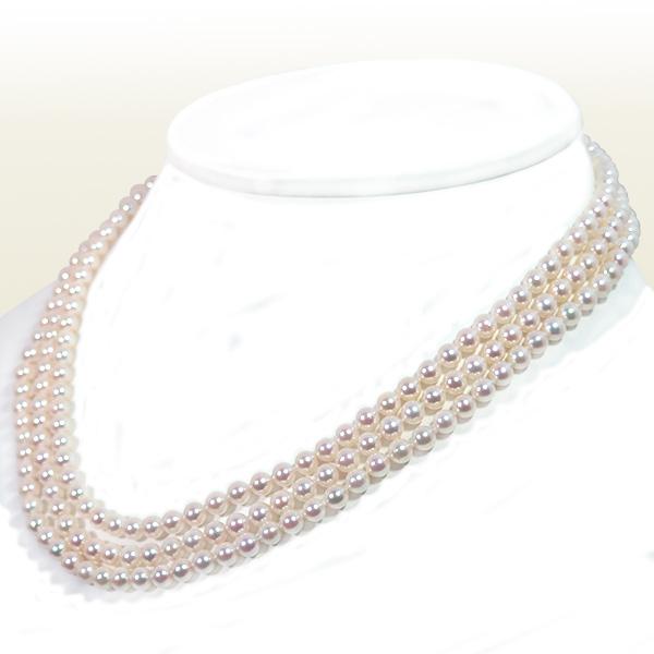ベビーパールロングネックレス (129.5cm) あこや真珠ネックレス<4.5〜5mm> N-11872