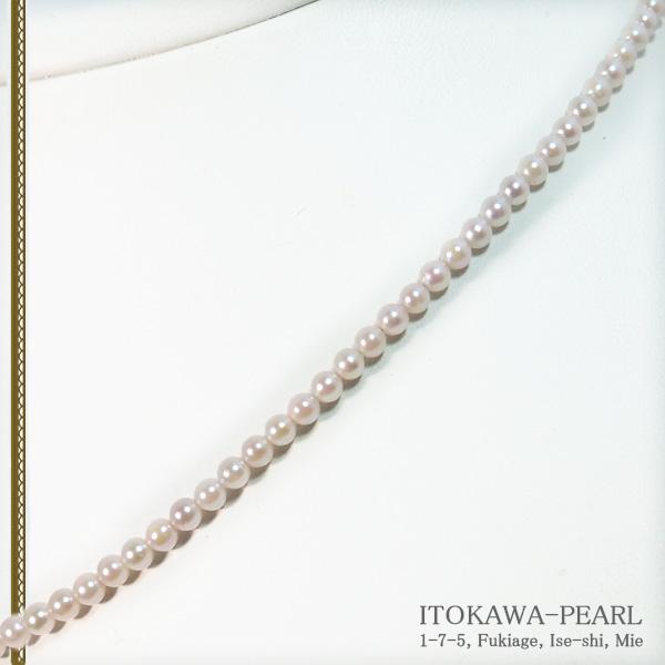あこや真珠ベビーパールネックレス<3〜3.5mm>アジャスター・K18YG N-12184