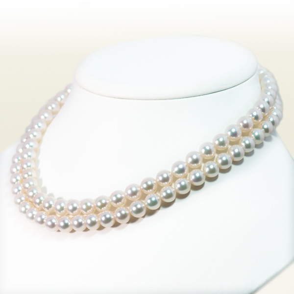 ロングネックレス(83cm)あこや真珠ネックレス<7.5〜8mm>N-12304