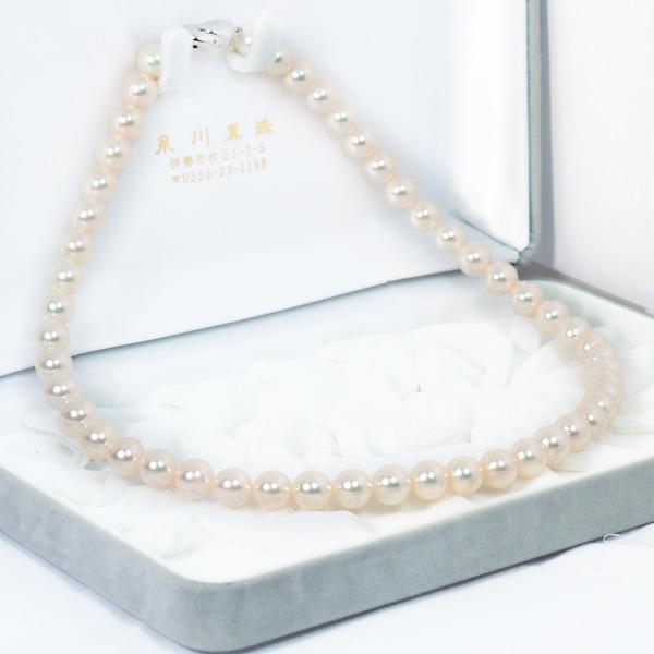 あこや真珠パールネックレス<8〜8.5mm>N-12379