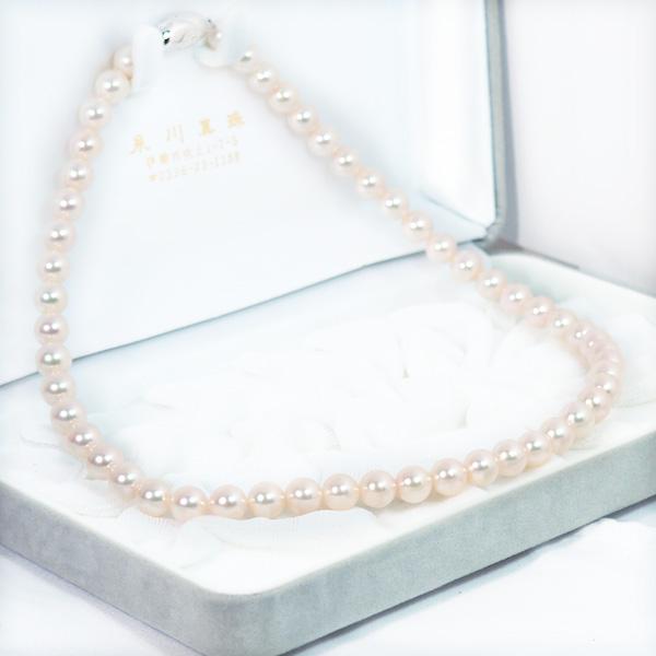 あこや真珠パールネックレス<7.5〜8mm>N-12203
