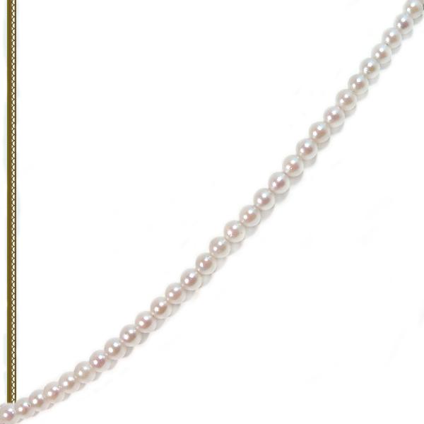 あこや真珠ベビーパールネックレス<3〜3.5mm>アジャスター・K18YG N-12183