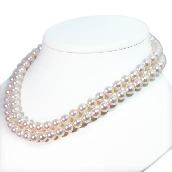 ロングネックレス(86cm)あこや真珠ネックレス<8〜8.5mm>N-12243