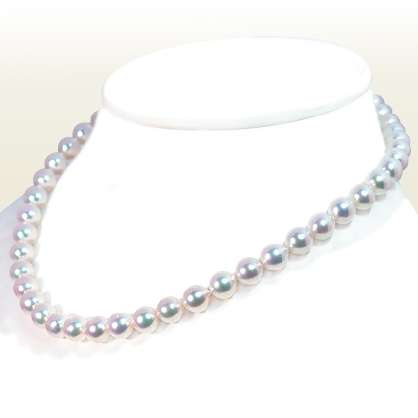 あこや真珠パールネックレス<8〜8.5mm>N-12241