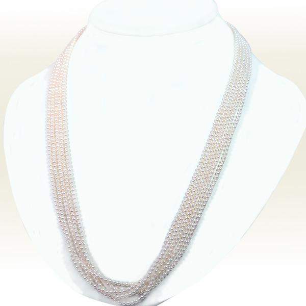 ベビーパール 5連ネックレス(59cm)あこや真珠ネックレス<2.5〜3mm>N-11786