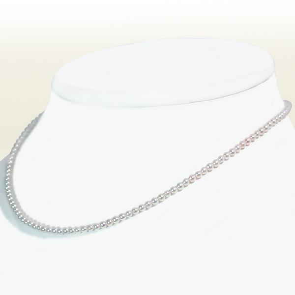 あこや真珠 ベビーパールネックレス<2.5〜3mm>アジャスター付・K14WG N-11770
