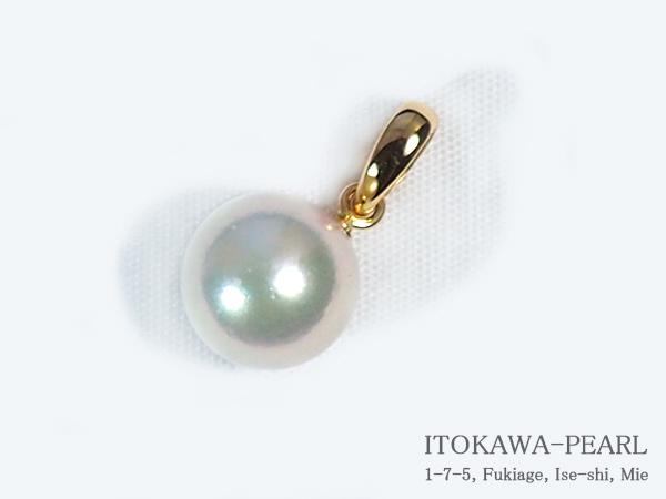 あこや真珠ペンダントトップ<8mm>K18YG P-8229