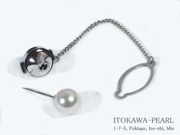 あこや真珠タイタック<8.3mm>・K14WG A-1362