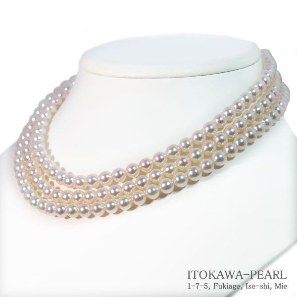 ロングネックレス(124.5cm)あこや真珠ネックレス<6.5〜7mm>N-12206