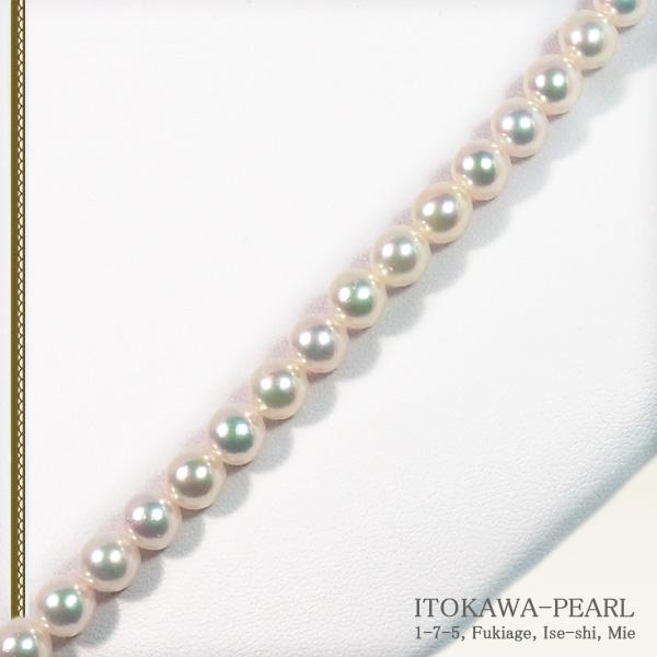 ロングネックレス(63cm)あこや真珠ネックレス<6.5〜7mm>N-12080