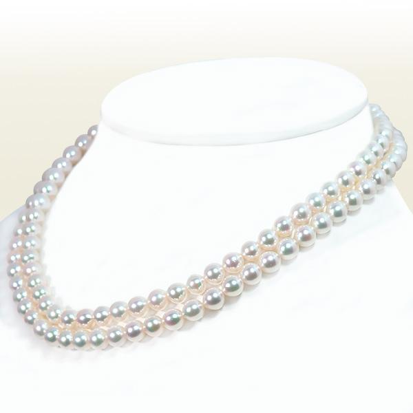 ロングネックレス(82.5cm) あこや真珠ネックレス<6.5〜7mm> N-12081
