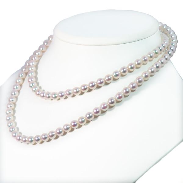 ロングネックレス(82.5cm)あこや真珠ネックレス<6.5〜7mm>N-12082