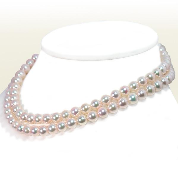 ロングネックレス(81cm) あこや真珠ネックレス<7.5〜8mm>N-12310