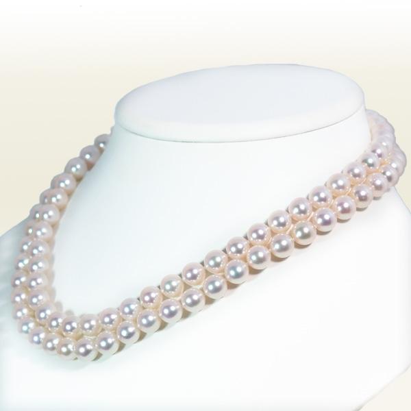 ロングネックレス (87.5cm)あこや真珠ネックレス<8〜8.5mm>N-11725