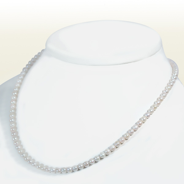 あこや真珠 ベビーパールネックレス<4〜4.5mm>差し込み式クラスプ N-11051