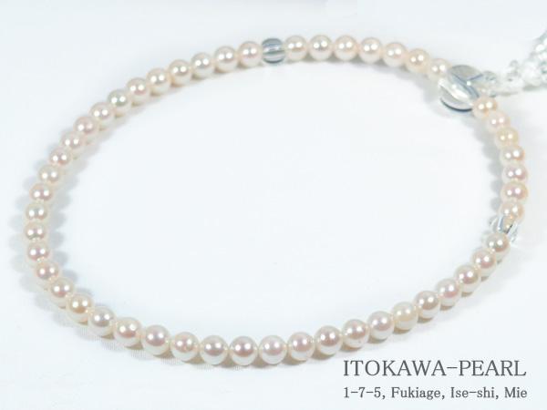 あこや真珠念珠(数珠)<5〜5.5mm>人絹(白)J-423