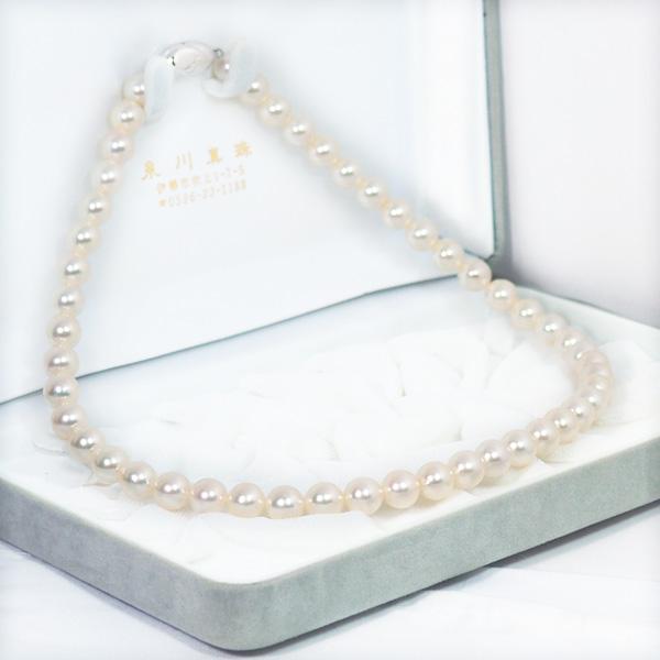 無調色あこや真珠ネックレス<8〜8.5mm>N-12145