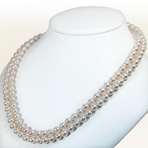 ロングネックレス(109.5cm) あこや真珠ネックレス<7.5〜8mm> N-11173
