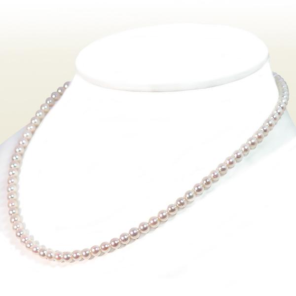 あこや真珠ベビーパールネックレス<4.5〜5mm>アジャスター・K14WG N-12276