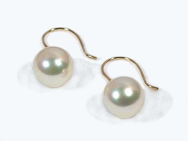あこや真珠ピアス<9.1mm>アメリカン・K18YG PE-6890