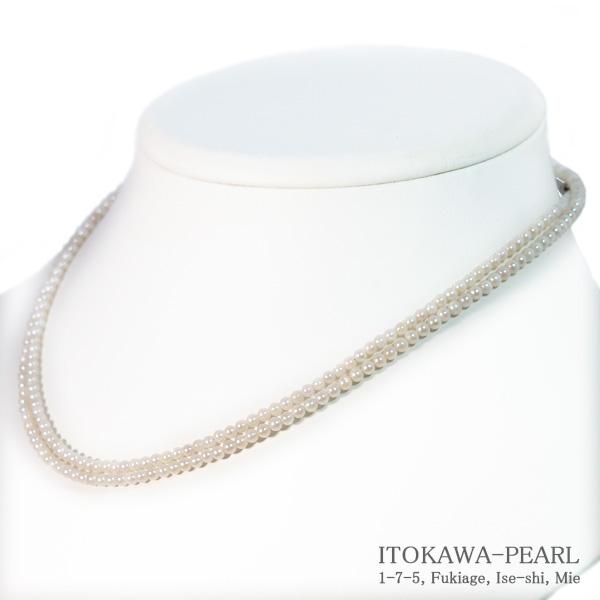 ベビーパールロングネックレス(80cm)あこや真珠ネックレス<2.5〜3mm>N-12280