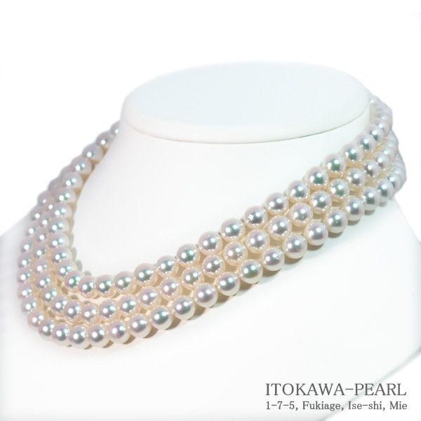 ロングネックレス(129cm)あこや真珠ネックレス<8〜8.5mm>N-12172