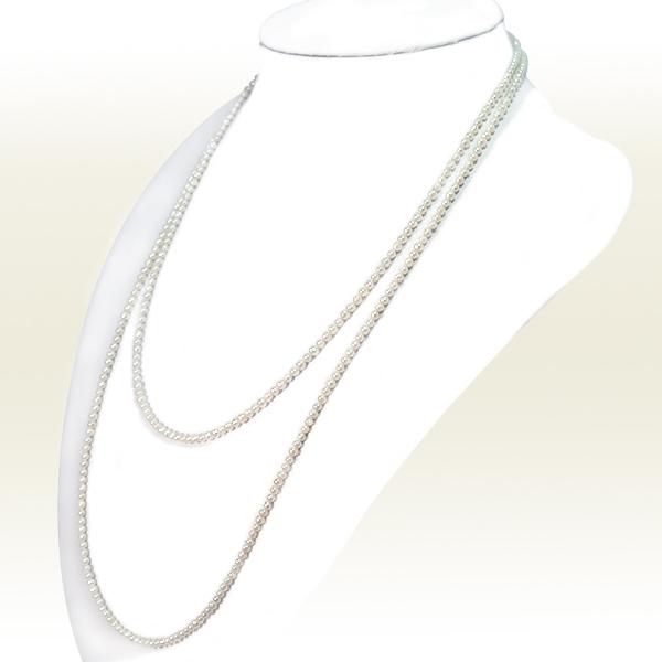 ベビーパールロングネックレス(108cm) あこや真珠ネックレス<2.5〜3mm>N-12283