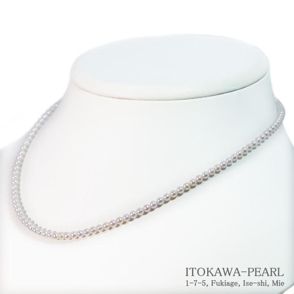 あこや真珠ベビーパールネックレス<3〜3.5mm>アジャスター・K18YG N-12406