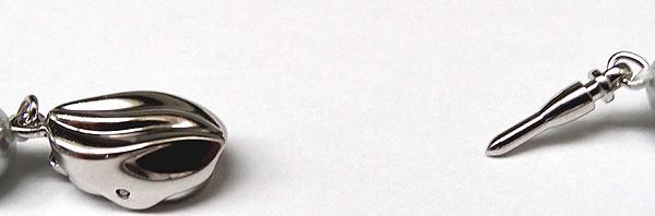 グレー系ロングネックレス(62.5cm)あこや真珠ネックレス<7.5〜8mm>N-12047
