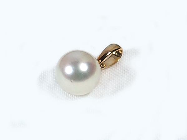 あこや真珠ペンダントトップ<7.6mm>K18YG P-8227