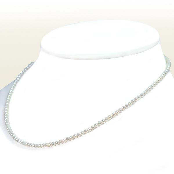 あこや真珠ベビーパールネックレス<2.5〜3mm>アジャスター・K14WG N-12128