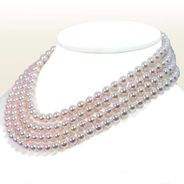 ロングネックレス (177.5cm) あこや真珠ネックレス<7〜7.5mm> N-12088