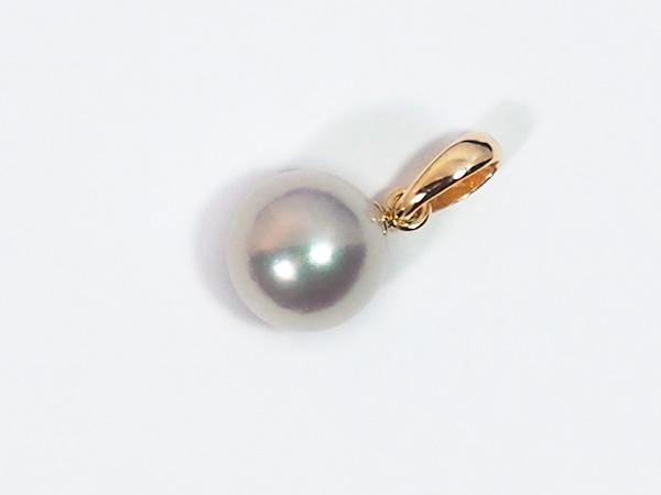あこや真珠ペンダントトップ<7.5mm>K18YG P-8323
