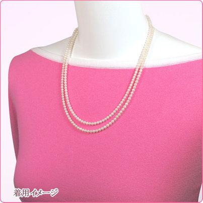 あこや真珠ベビーパールロングネックレス <3〜3.5mm>(108.5cm)N-11394