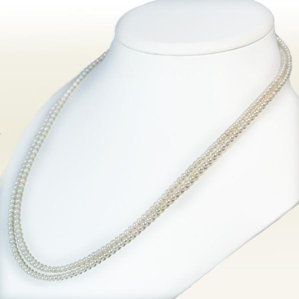 あこや真珠ベビーパールロングネックレス <3〜3.5mm>(108cm)N-11395