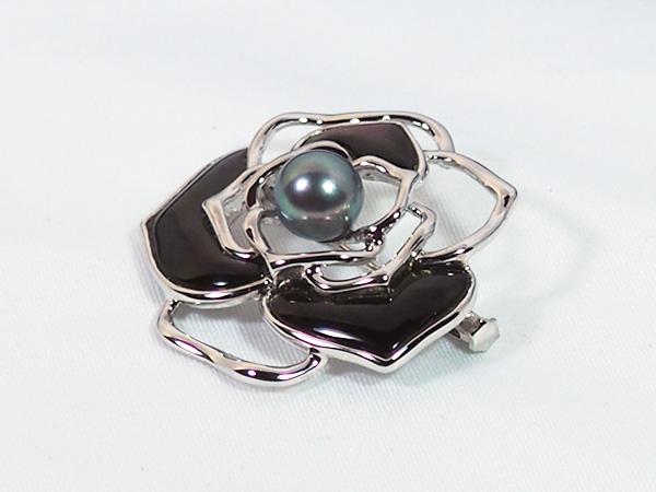 あこや真珠ブローチ<8.7mm>・シルバー B-1465
