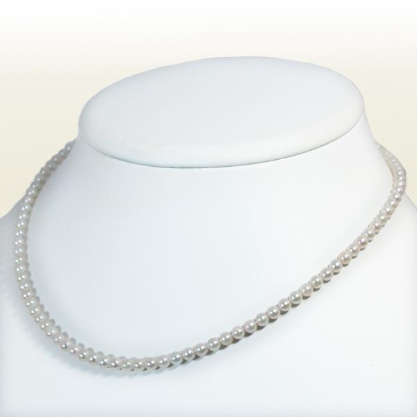 あこや真珠 ベビーパールネックレス<3.5〜4mm>アジャスター・K18YG N-11195