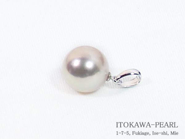 あこや真珠ペンダントトップ<9.2mm>K14WG P-8343